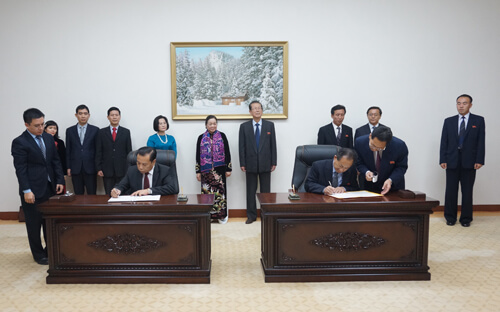Đoàn cán bộ Đảng Cộng sản Việt nam thăm Triều Tiên