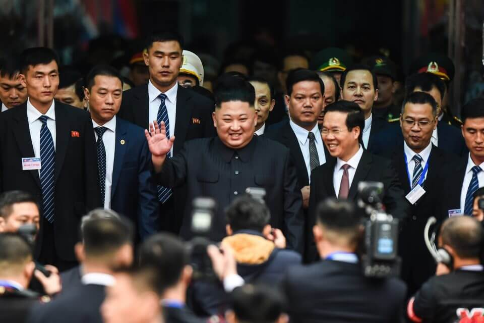 Kim Jong Un - President of North Korea arrives in Vietnam for summit with Trump