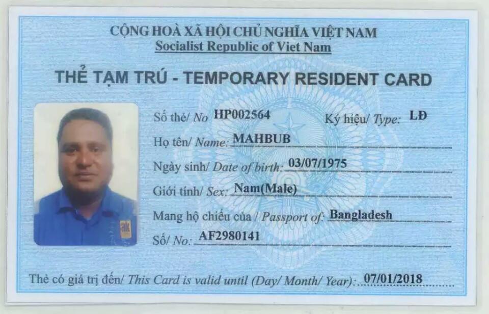 Cấp thẻ tạm trú cho người nước ngoài tại Việt Nam
