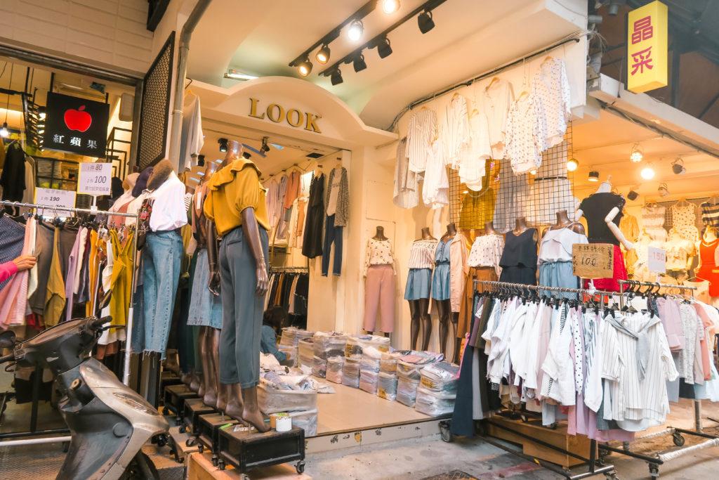 cửa hàng quần áo tại Đài Loan