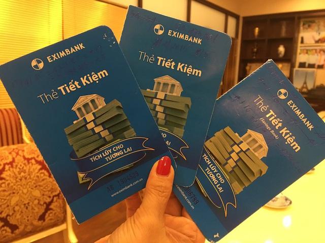thẻ tiết kiệm Eximbank