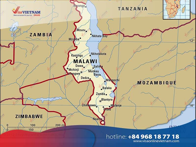 How many ways to get Vietnam visa from Malawi?