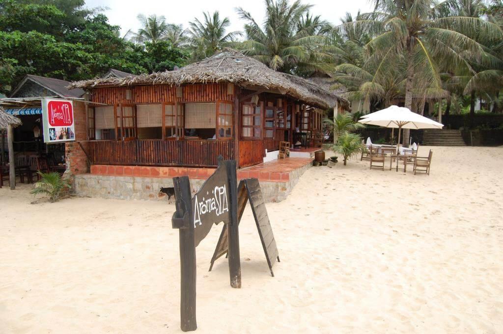 Khu Aromaspa có vị trí nằm gần biển tại Việt Thanh resort
