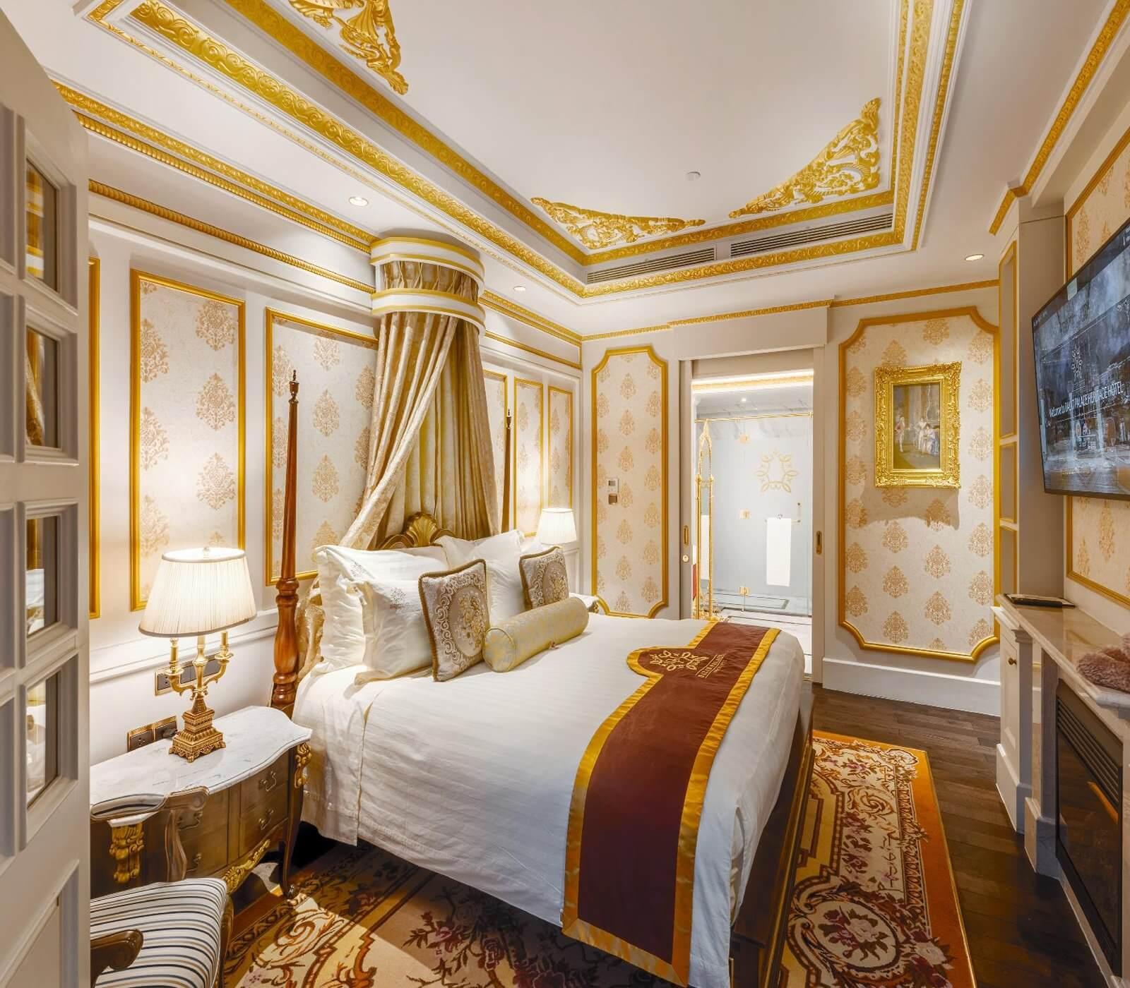 Không gian phòng nghỉ tại khách sạn Dalat Place